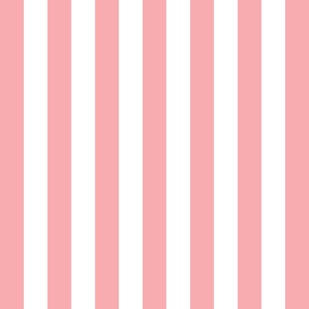 Papel de parede adesivo listrado rosa salm o e branco eucolo - Papel de pared de rayas ...