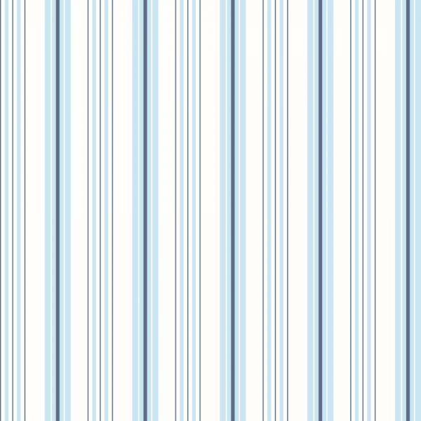 Papel de Parede Adesivo Listrado Tons de Azul