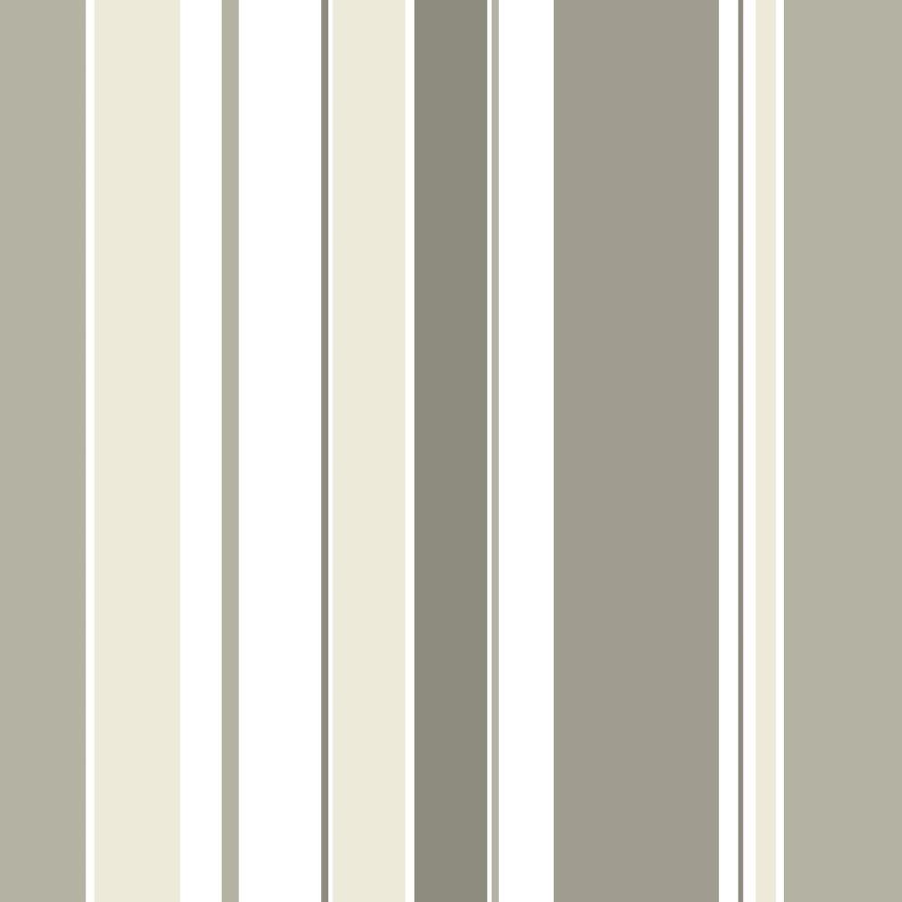 Adesivo De Parede Arvore Com Fotos ~ Papel de Parede Adesivo Listrado Tons de Cinza com Bege EuColo