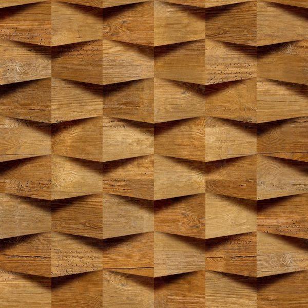 Papel de Parede Adesivo Madeira Entalhe 3D