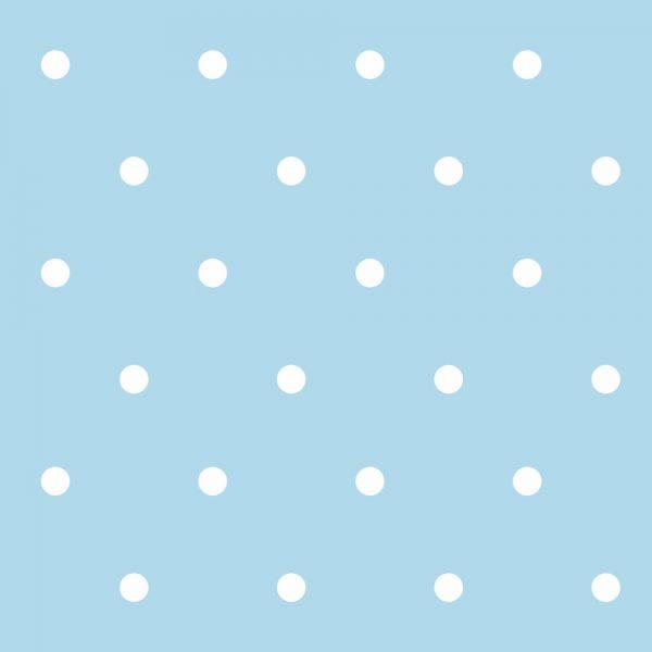 Papel de Parede Adesivo Poas Bolinhas Brancas com Fundo Azul