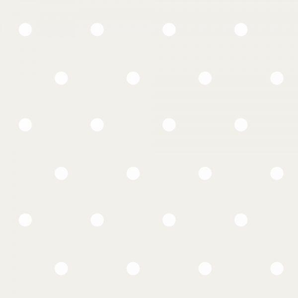 Papel de Parede Adesivo Poas Bolinhas Brancas com Fundo Bege