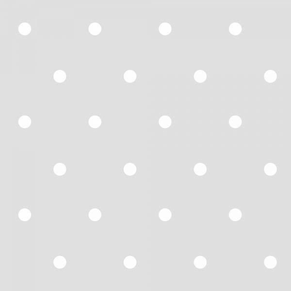 Papel de Parede Adesivo Poas Bolinhas Brancas com Fundo Cinza