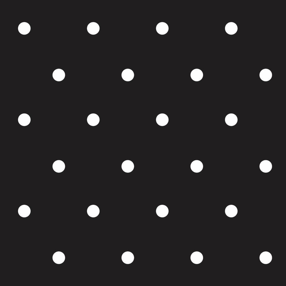 Aparador Gris Decapado ~ Papel de Parede Adesivo Poas Bolinhas Brancas com Fundo Preto EuColo