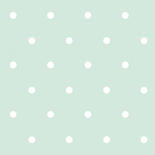 Papel de Parede Adesivo Poas Bolinhas Brancas com Fundo Verde