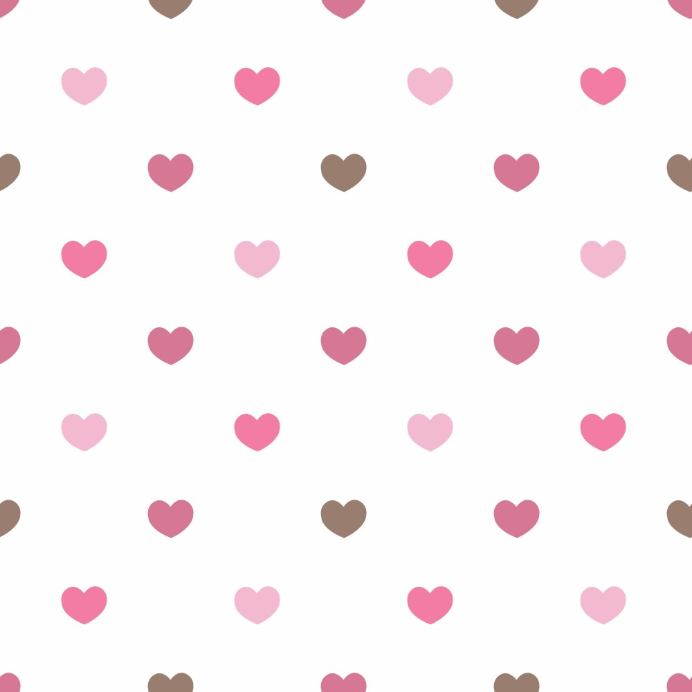 Artesanato Virtual ~ Papel de Parede Adesivo Poás Corações Rosas EuColo
