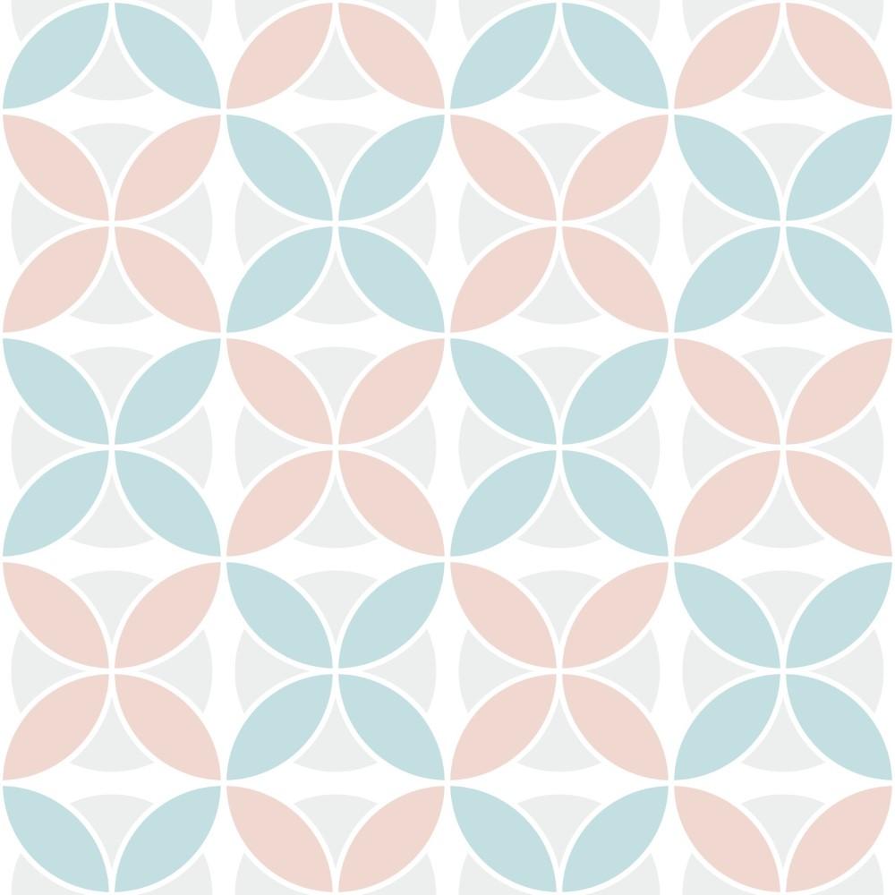 Como Funciona O Adesivo De Credito Santander ~ Papel de Parede Adesivo Retro Azul e Rosa Pastel EuColo