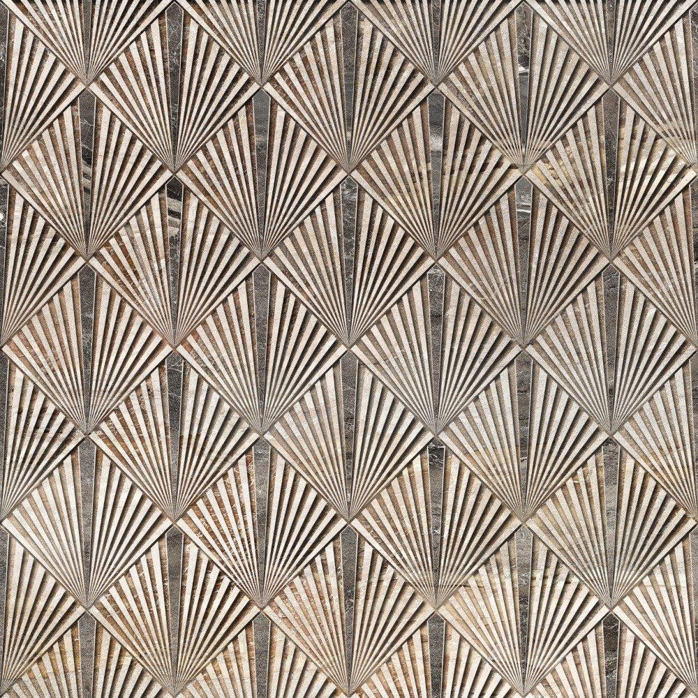 Papel de Parede Adesivo Retro Textura Chumbo