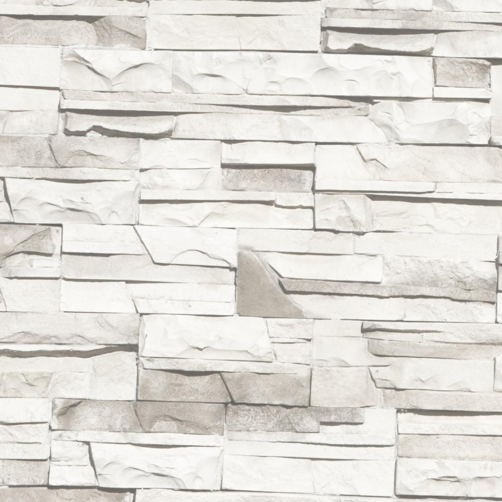 Papel de Parede Adesivo Pedras Canjiquinha Branca