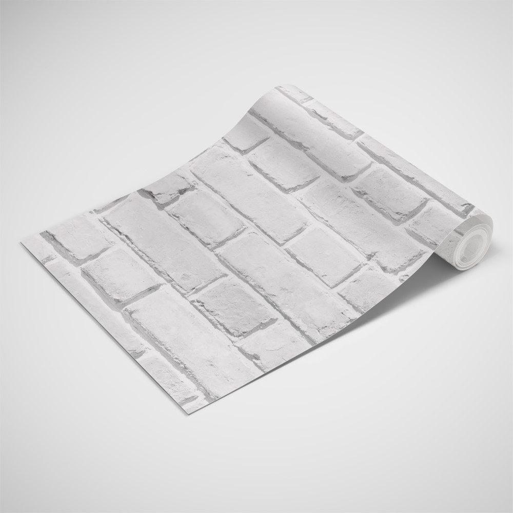 Papel de Parede Adesivo Tijolo Branco Rústico