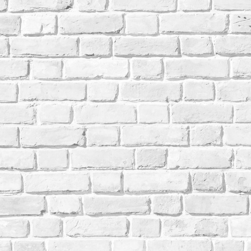Papel de parede adesivo tijolo branco r stico eucolo for Papel de pared rustico