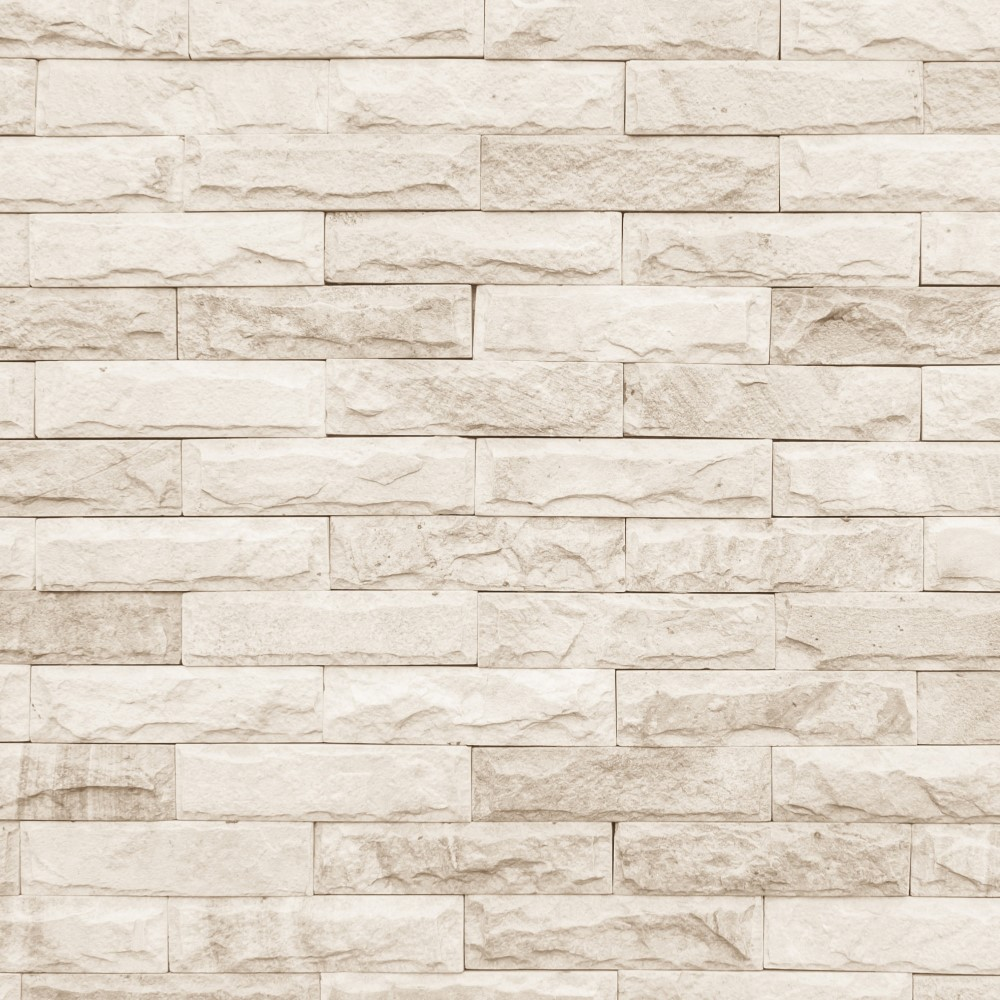 Papel de parede adesivo tijolo pedras bege eucolo for Papel de pared rustico
