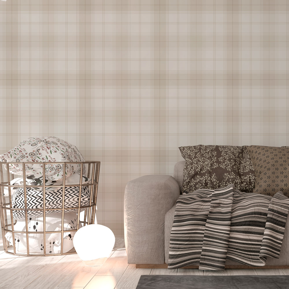 Papel de parede adesivo xadrez bege delicado eucolo - Papel adhesivo para paredes ...