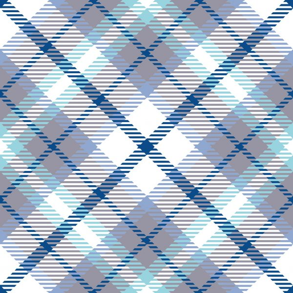 Papel de Parede Adesivo Xadrez Tons de Azul