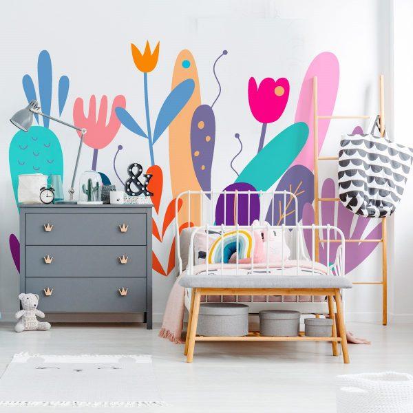 Painel Fotográfico Flores Ilustrativas