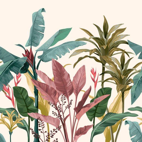 Painel Fotográfico Folhagem Tropical