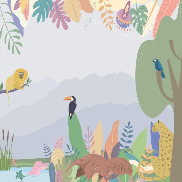 Painel Fotográfico Animais Fauna Brasileira