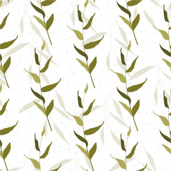 Papel de Parede Adesivo Folhagens Leaves